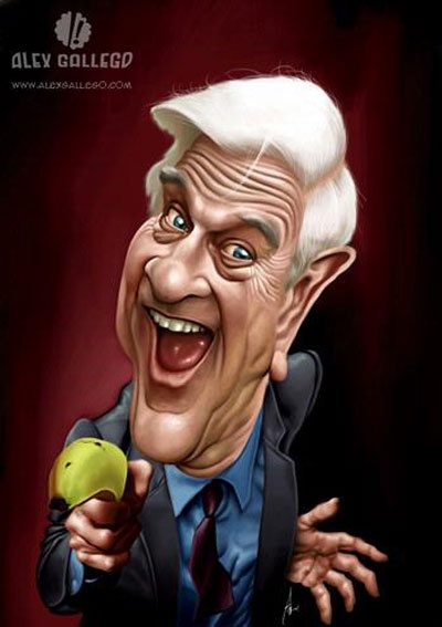 Leslie Nielson - illustration of Alex Gallego