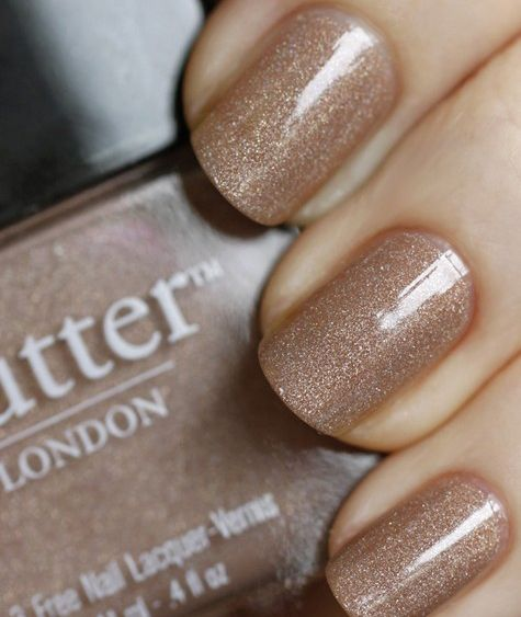 nude sparkle nail polish