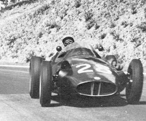 Herbert mackay fraser rouen les essarts 1957 brm p25 for Garage jean behra