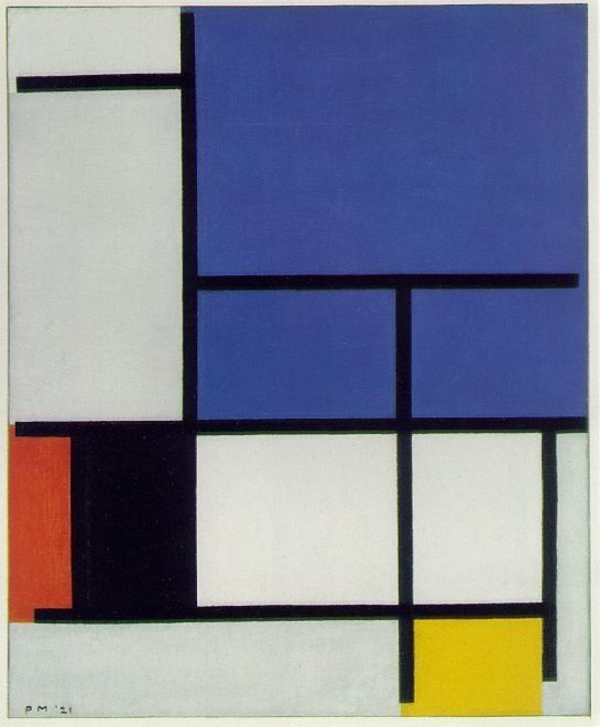 Composition with Large Blue Plane, Red, Black, Yellow, and Gray 1921 Oil on canvas Piet Mondrian Dallas Museum of Art