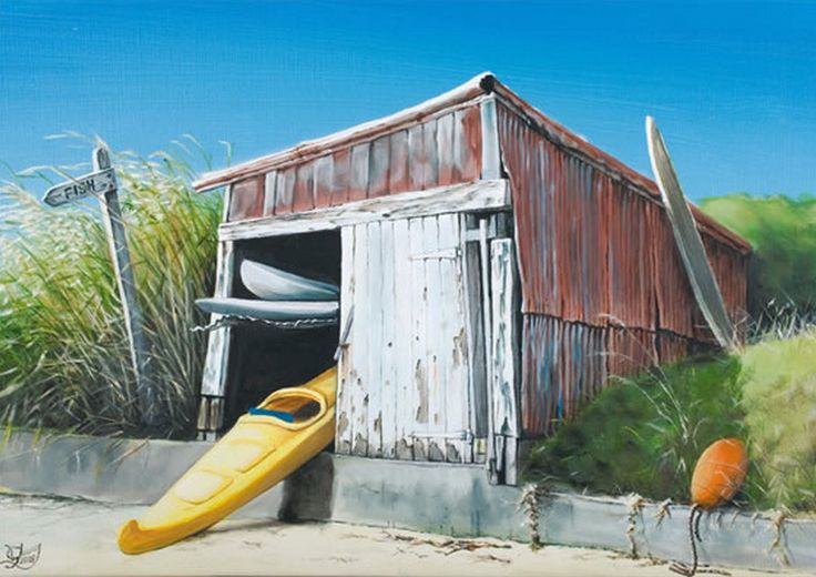 Old Boatshed by Graham Young. imagevault.co.nz