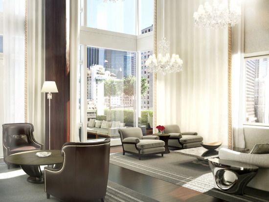 Ultra Luxury Baccarat Residences in New York by Tony IngraoLiving Spaces, Bacarrat Hotels, Living Room, Interiors Design, Baccarat Crystals, Baccarat Hotels, York Design, New York, Baccarat Resident
