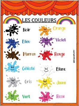 VOCABULARY IN FRENCH - COLORS - TeachersPayTeachers.com