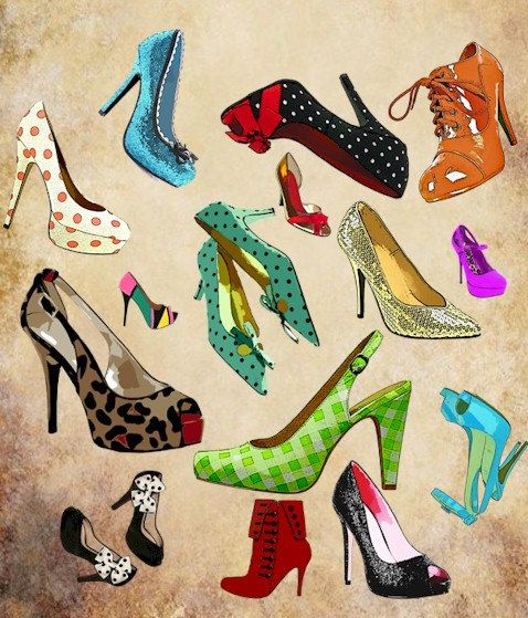 high heel shoes collage clip art png by