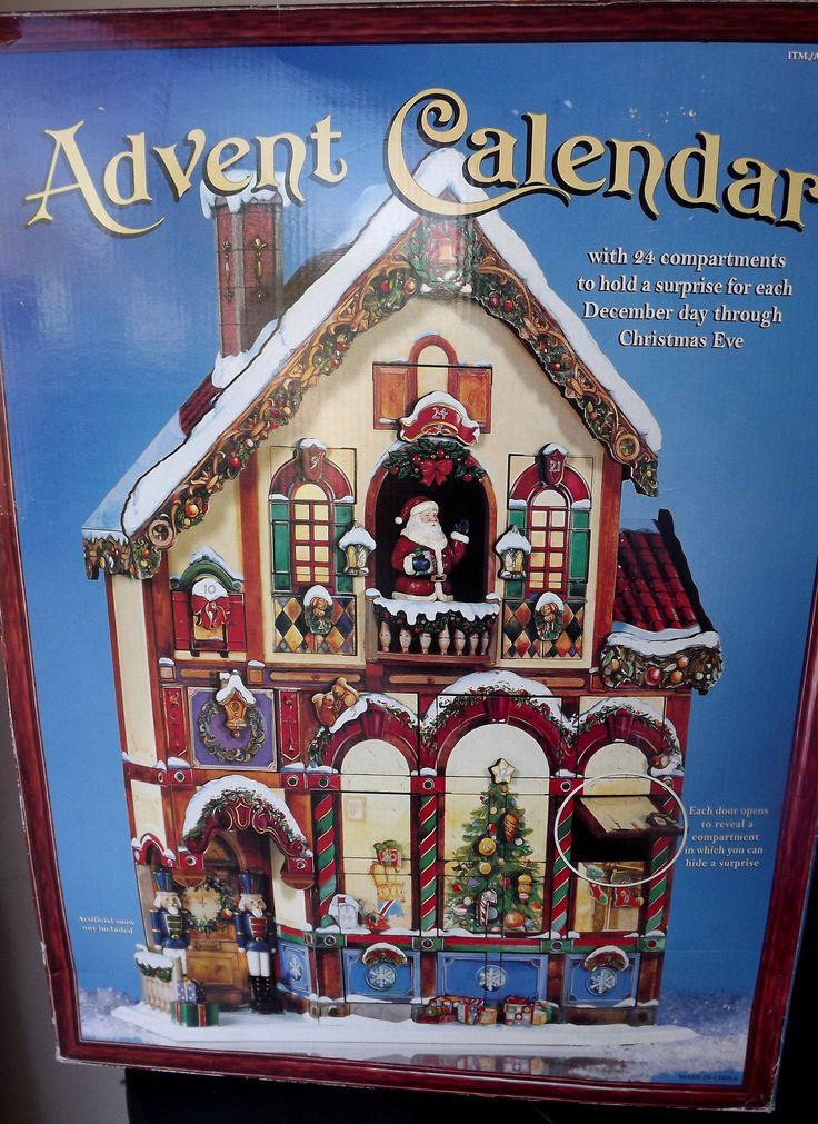 Costco Wood Advent Calendar Victorian House Santa ...