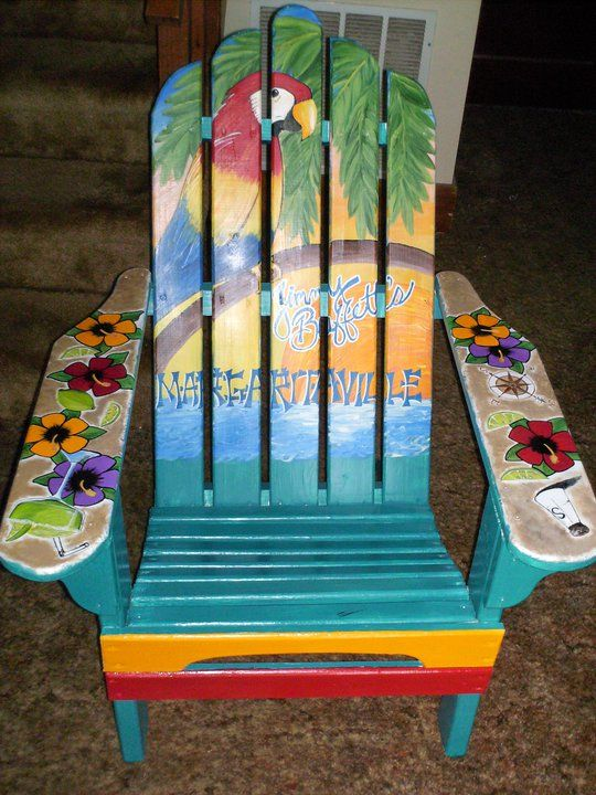 Jimmy Buffett chair - I am going to remake this....one day