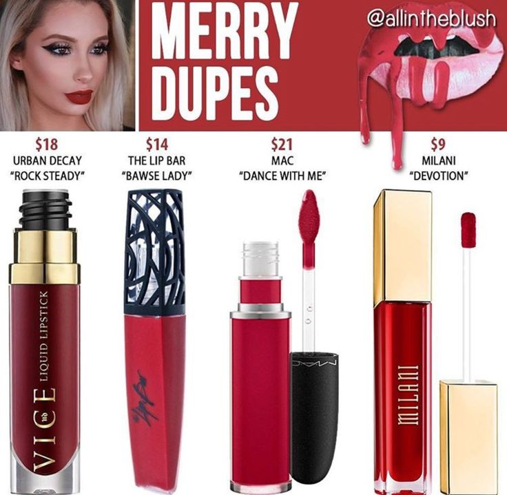 Kylie cosmetics liquid lipstick in the shade Merry // Kayy Dubb
