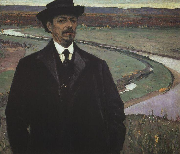 Михаил Васильевич Нестеров » Картины, живопись » Автопортрет, 1915