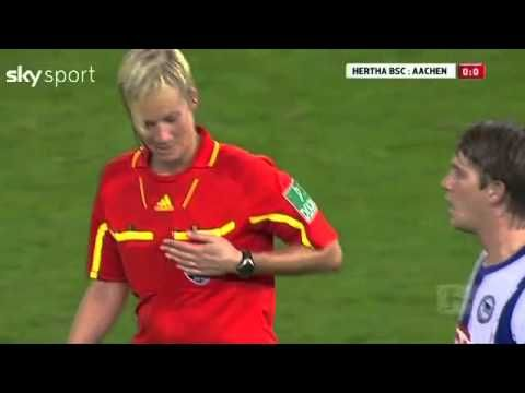 Football player touched female referee's breast!