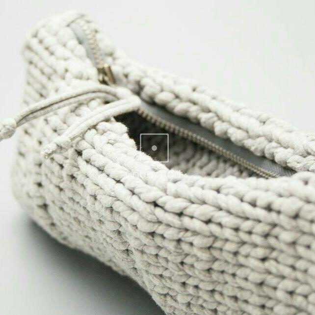 """#handmade #needles #bag #cotton #handbag #greekdesigner #gray #πλεκτη#βελονες #χειροποίητο…"""""""