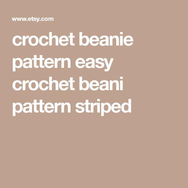 crochet beanie pattern easy crochet beani pattern striped