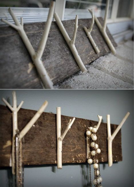 Tree branch hooks: Decor Ideas, Crafts Great Ideas, 0Hhooks002 Jpg, Stuff, Coat Hooks, Craft Ideas, Household Hooks, Diy Hooks