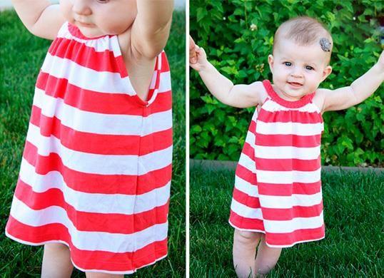 Как переделать платье для девочки