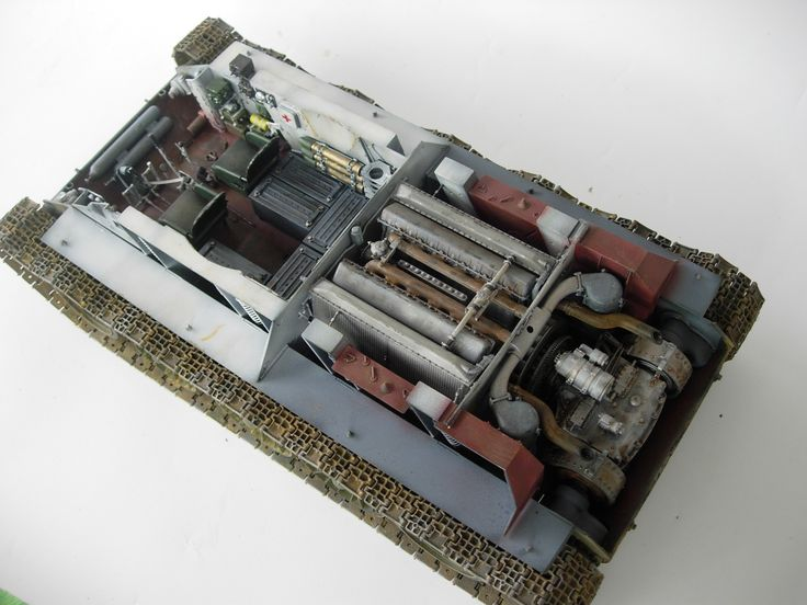 1/16 scale Russian T34 tank w/interior, by ademodelart