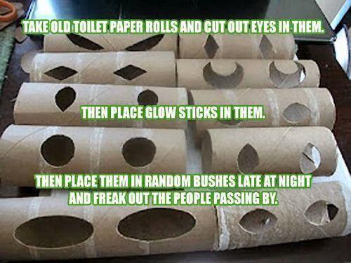 Trolling level 439932.Glow Sticks, Halloween Decor, Halloween Eye, Toilets Paper Rolls, Halloween Fun, Halloween Crafts, Halloweenideas, Halloweendecor, Halloween Ideas
