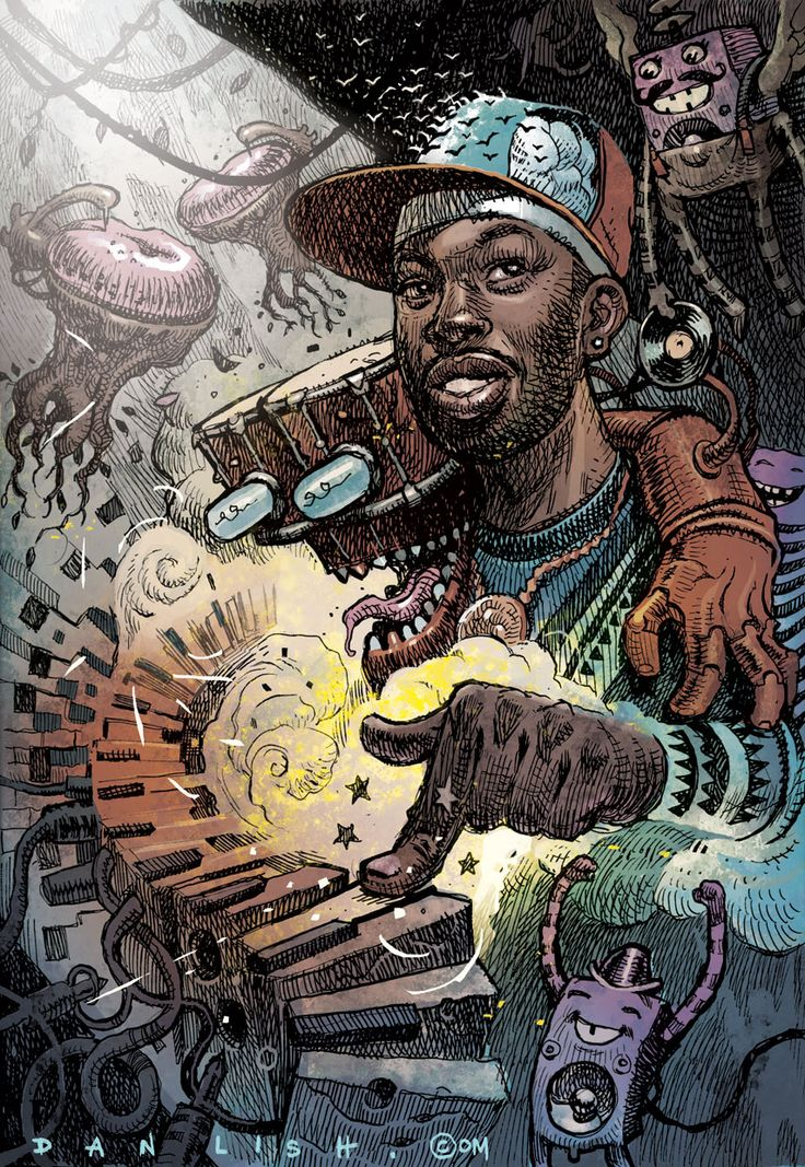 Portfolio Review: Dan Lish Creates Captivating Illustrations of Hip-Hop Legends…