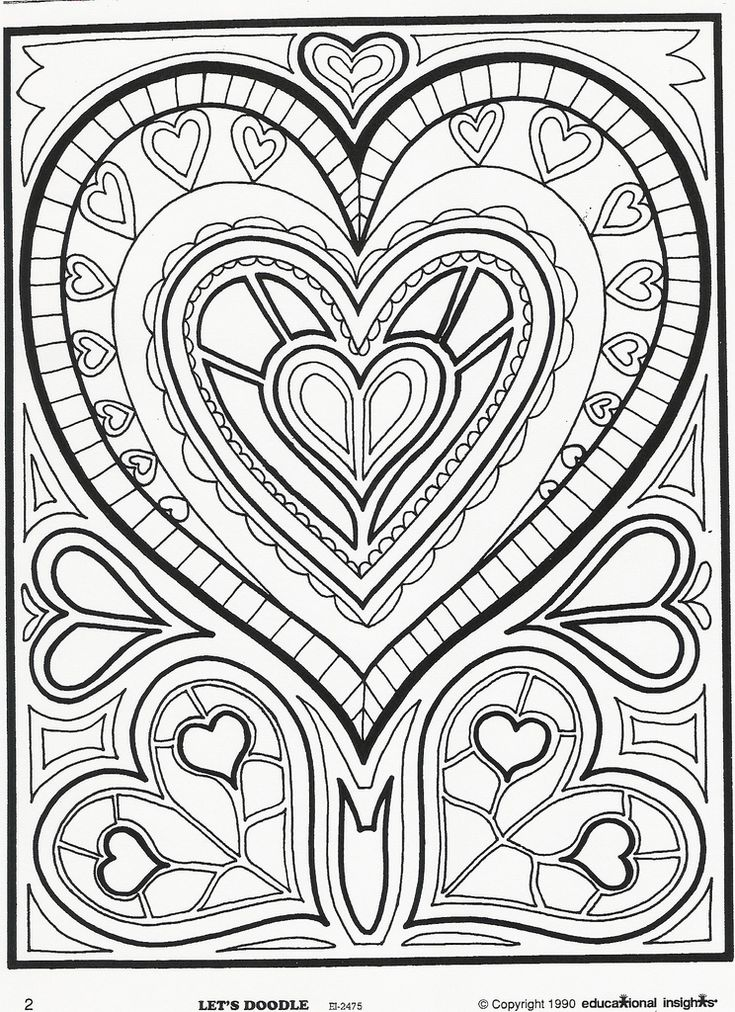 Heart For More Hearts See My Zentangles Board Doodle ColoringMandala ColoringColoring SheetsAdult