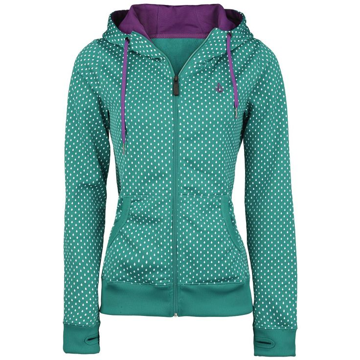 Stone Dot - Girls hooded zip by Volcom - Article Number: 234196 - from 73.99 € - EMP Merchandising ::: The Heavy Metal Mailorder ::: Merchandise Shirts and More