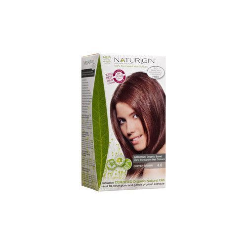 Naturigin Hair Colour - Permanent - Copper Brown - 1 Count - NATURIGIN offers you 19 different natural permanent hair colour options, as well as natural and organic hair wash and conditioner that gives you beautiful natural hair.Ingredients: *Certified Organic Ingredients by Independent Third Party. Organic: NA Gluten Free: No Dairy Free: Yes Yeast Free: Yes Wheat Free: No Vegan: Yes Kosher: No GMO Free: NA Summer Melt Risk? No Country Origin: Denmark Dimensions: 2.5 in. L x 3.5 in. W x 6.5…