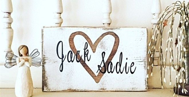 Super Cute Personalized Sign!                                                                                                                                                                                 More