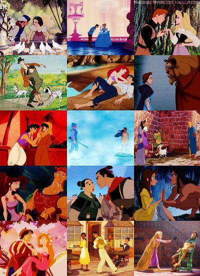 First time they met. So sweet :) <---and then there's Rapunzel and Eugene. And Meg in all her sass!