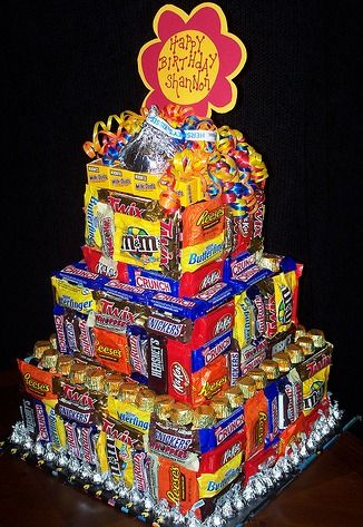 How To Make A Candy Bar Cake - @Cass Bannister That is what I want for my birthday.