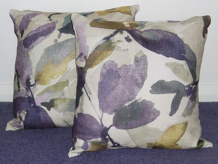 2 x 16  Cushions made in John Lewis Really Expensive Fabric Purple (Set 2)
