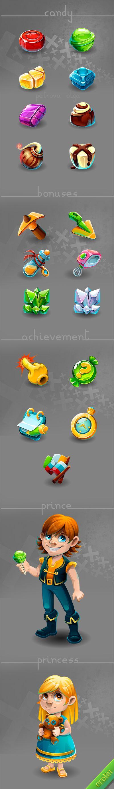 "Game ""Candy Kingdom 2"" by Olga Petrova, via Behance"