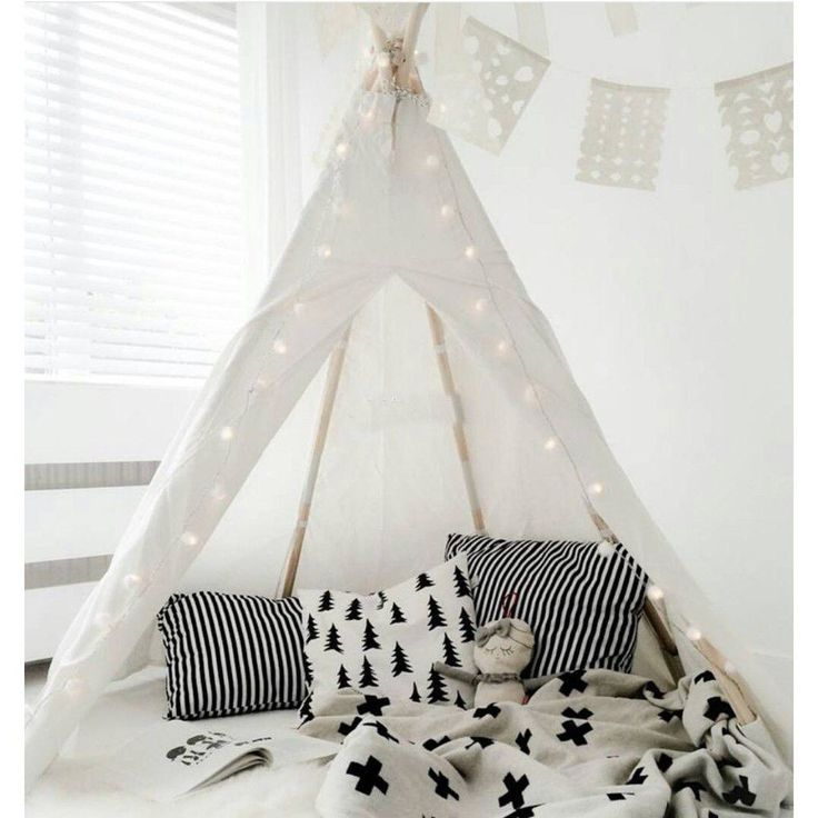 White Teepee Tent – perfect for nursery!