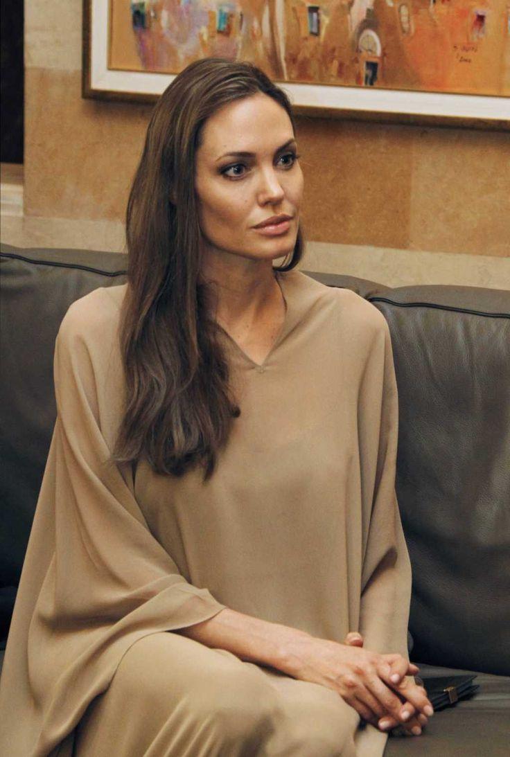 elegantly sophisticated Angelina Jolie