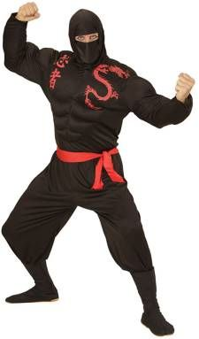 Disfraz de ninja musculoso para hombre