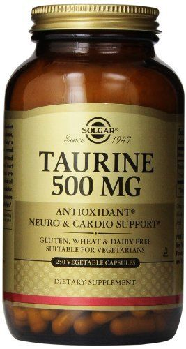 Solgar, Taurine 500 mg 250 Vegetable Capsules (Pack of 3) -- Details can be found by clicking on the image.