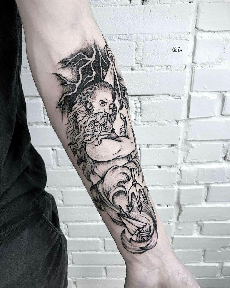 Tattoo done by: @katyageta #poseidon #poseidontattoo