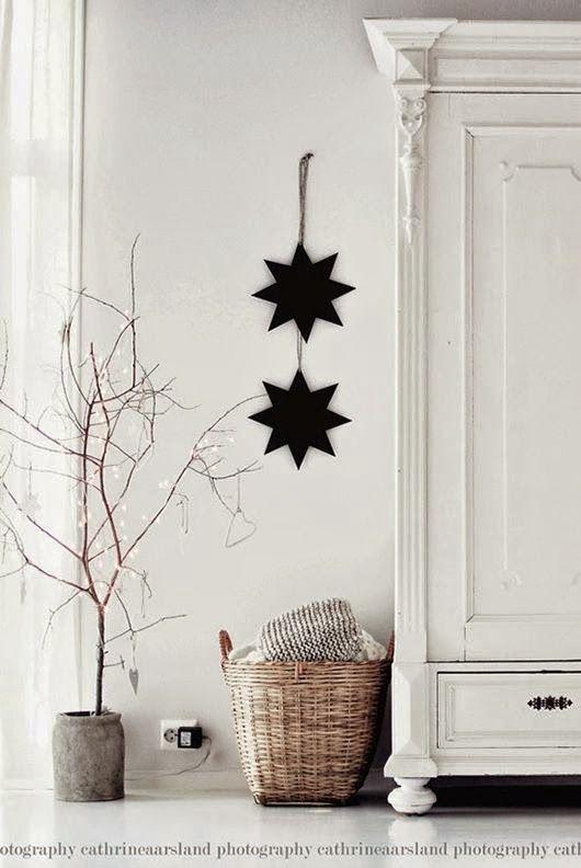 Zwart/witte kerst met een industrieel tintje