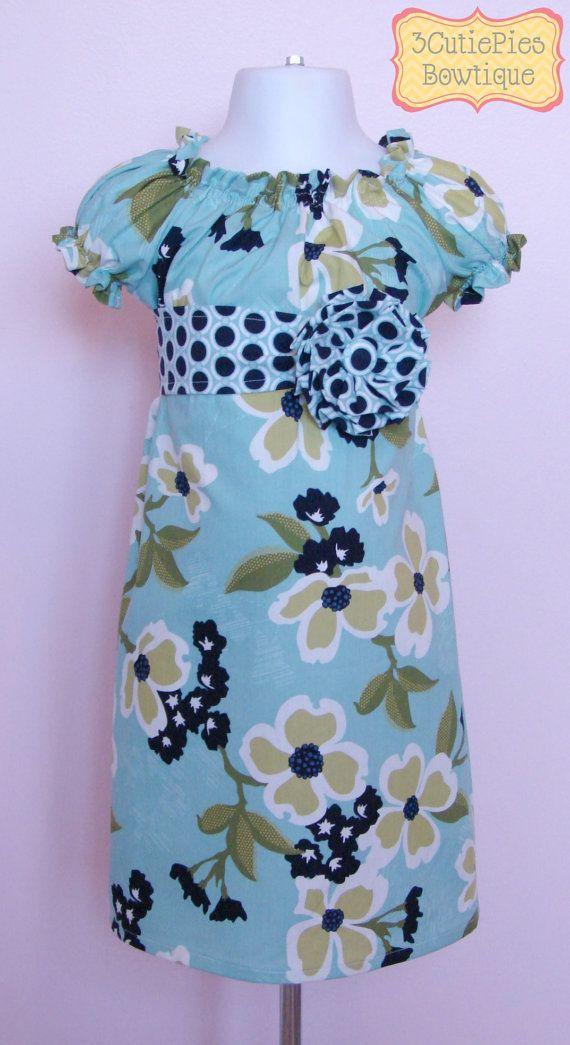 Peasant dress, girls dress, floral dress, Spring dress, toddler dress, dress-Girls sizes 3 months-6 years on Etsy, $44.00