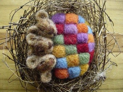 ADORABLE! Needle felting by Nancy Bevins