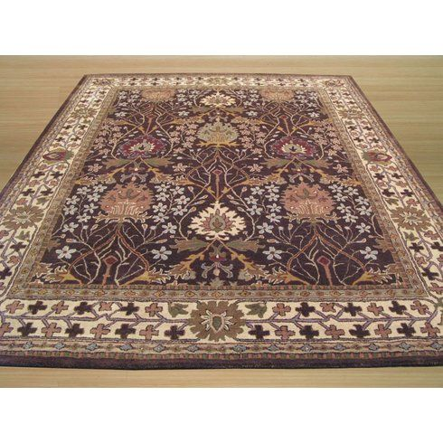 Jamnagar Hand-Tufted Area Rug Craftsmans style 6 x 9 no rounds