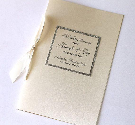 Jennifer Couture Wedding Booklet Program  by EmbellishedPaperie, $4.00