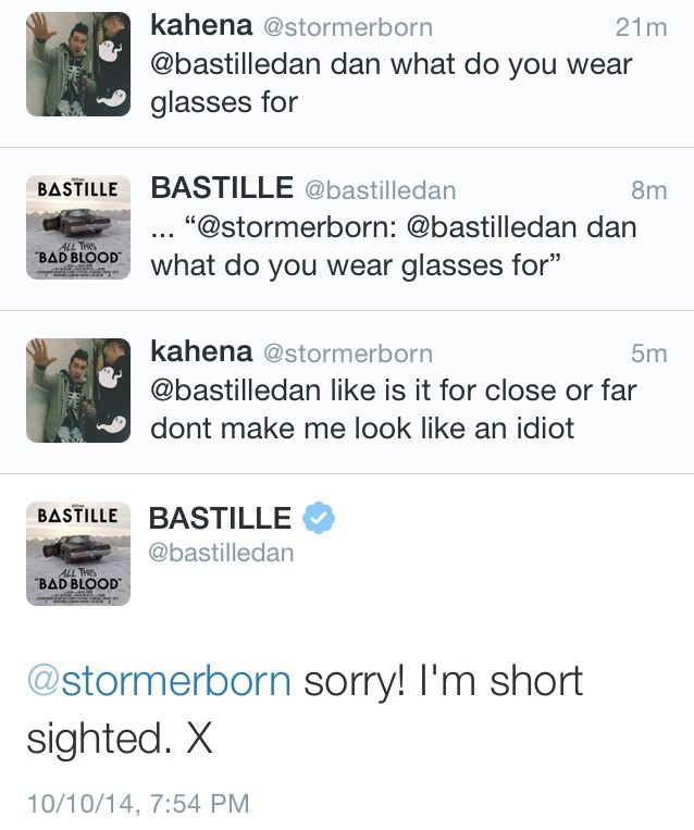 Dan Smith of Bastille. Sometimes he's more trouble than he's worth
