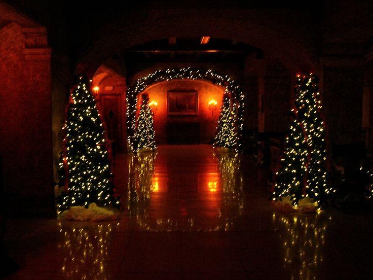 Hallway in the Banff Springs Hotel in Banff, Alberta, Canada during Christmas.