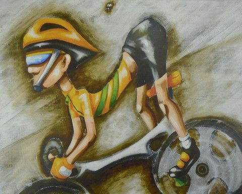 Derek - The Time Trialist – Stretched canvas - Sport art by ArtSportive