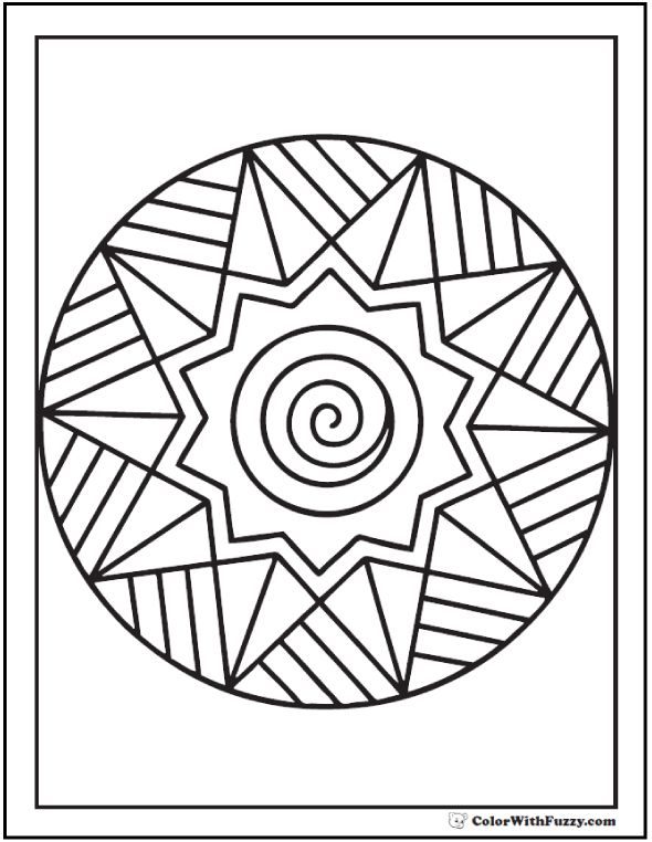 Image result for easy circular colouring patterns