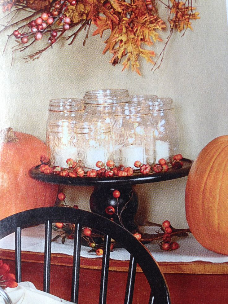 I need a cake stand and some mason jars, add a little glitter with some tea lights and viola!!
