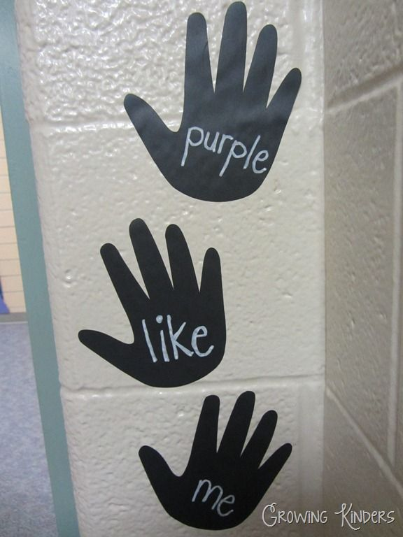 The kids high five and say one of the new words as they go out. Simple, easy, and effective.