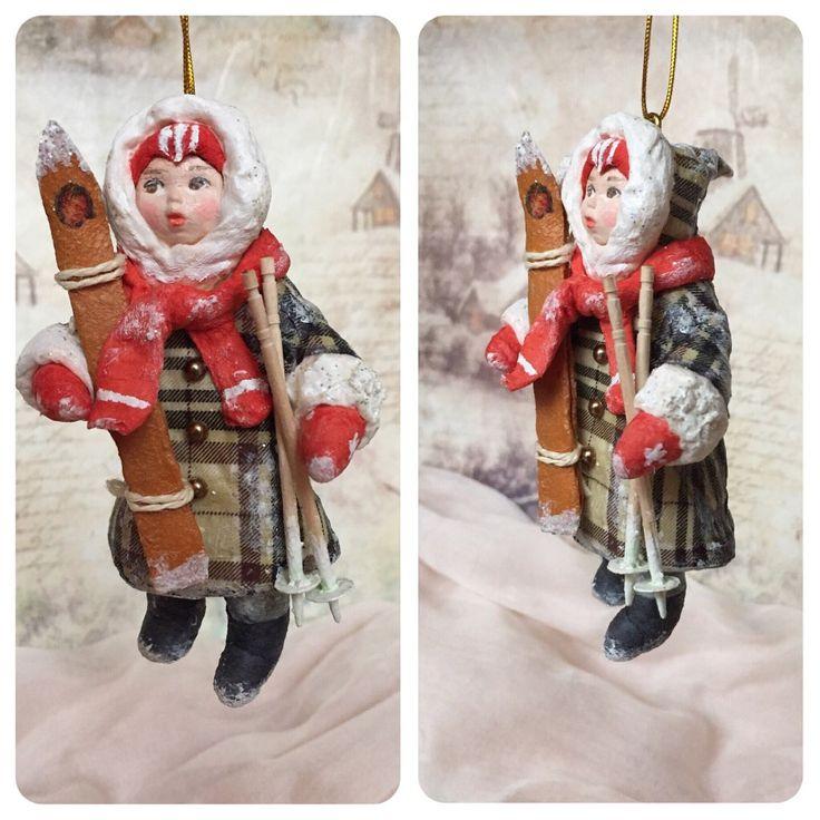 Ватная игрушка «Младший братик Гриша» #annettedecor #ватнаяигрушка #хендмейд #handmade #новыйгод #рождество #елочнаяигрушка #игрушканаелку #авторскаяигрушка #ручнаяработа #ватнаяигрушканаёлку