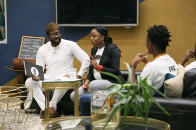 BB Naija Housemates Are Over The Moon As Desmond Elliot Visits The House