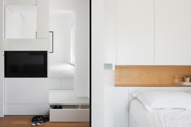 The Best Apartment in Australia is a 290 Square Foot Home: A Step That Conceals Storage
