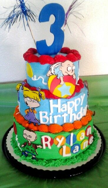 A Rugrats Birthday Cake A 6 Inch Lemon Cake 8 Inch And