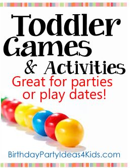 Toddler Games and Activities!  Fun toddler games and activities for boys and girls ages 1, 2 and 3 years old.   Fun for birthday parties, playdates, babysitting or everyday!     Bubble and fingerpaint homemade recipies too!  http://www.birthdaypartyideas4kids.com/toddler-games.html #toddler #games