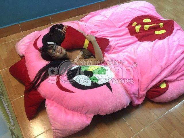 Nệm heo Burin hiệp sĩ lợn (1.6 x 2.1m) – Nệm hình thú Cao Cấp